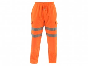 Rail Hi Vis Jogger w/ Fleece Backed Fabric & SBS Industrial Zip Fly