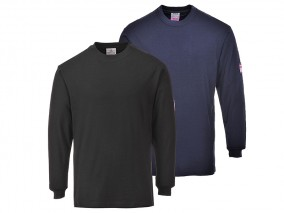 FR033 - Flame-Retardant & Anti-Static Long Sleeve T-Shirt w/ Ribbed cuffs