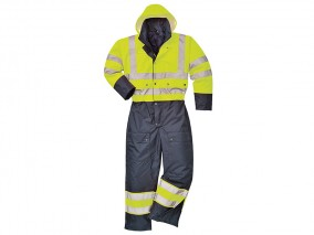 Two Tone Quilted Coverall w/ Elasticated back waist & Reflective tape strips