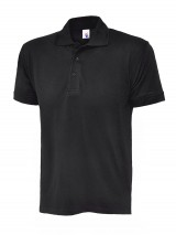 Essential Pique Polo Shirt w/ Knitted Raised Collar & Taped Neck