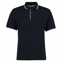 Kustom Kit Essential Polo w/ Contrast piping down placket edge