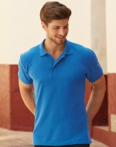 Fruit Of The Loom 65/35 Heavyweight Pique Polo T shirt w/ self-coloured buttons