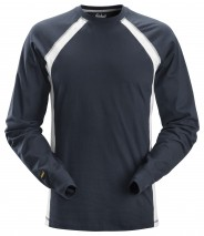 Snikers 2402 Long Sleeve T-shirt w/ Lycra in the neck rib to help maintain shape