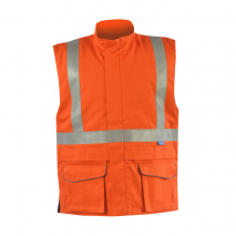 Flame Retardant Hi Vis Orange Bodywarmer