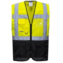 Hi Vis Executive Vest - Yellow/Navy