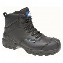 HIMALAYAN Black Leather Waterproof Boot Metal Free Cap & Midsole w/ Gravity 2 Sole