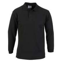 Long Sleeve 50/50 Poly Cotton Polo w/ Double Ribbed Collar & Cuffs