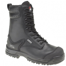 HIMALAYAN Black Leather Safety Combat Boot