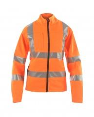 Ladies Softshell High Viz Rail Jacket w/ Storm cuffs fitted into sleeves