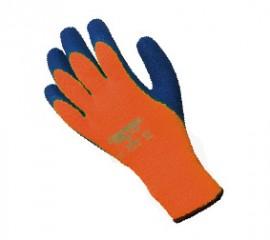 Hi Vis Fleece Lined Grip Glove w/ 7 gauge liner