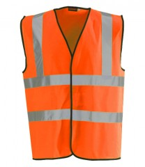 High Vis Orange Vest W/ Velcro Fastening & 50mm Width Reflective Tape (NON RAIL SPEC)