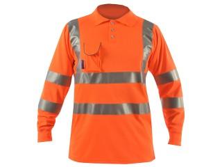 Long Sleeve Hi Vis Polo Shirt w/ Soft Under Arm Ventilation & Soft Ribbed Cuff