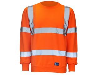 GN429 – Activwear HV Sweatshirt w/ Fleece back knitted fabric & Ribbed cuffs