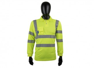 Long Sleeve Polo Shirt w/ Soft Under Arm Ventilation & Soft Ribbed Cuff
