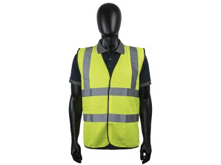 Yellow High Vis Vest W/ High Quality Reflective Tape