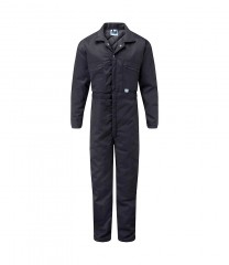 Quilted Boiler suit w/ elasticated action back & zip front
