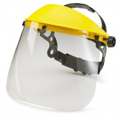 General Face Shield and Carrier w/ Ratchet fastening