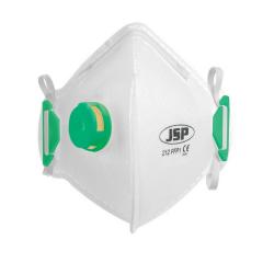 JSP Disposable Valved FFP1 Vertical Fold Flat Masks Box 10