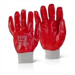 PVC Dip Knit-Wrist Gloves w/ Elasticated cuffs