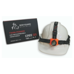 Rechargeable LED Head torch w/ USB charger & Helmet clips
