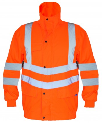 Railguard Bomber Jacket-Orange