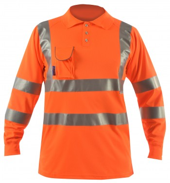 bodyguard-T-Shirts-Hi-Vis-Rail-L/S-Polo-Shirt