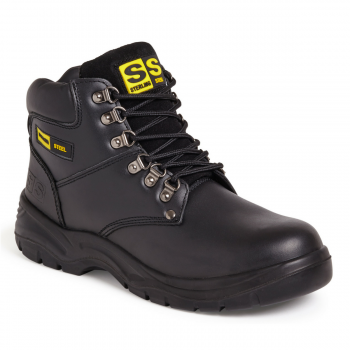 Sterling Black Unisex Hiker Safety Boots (S1P)