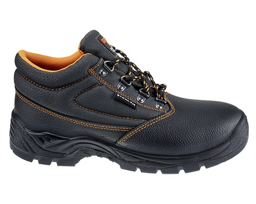 Stealth Leather Safety Boot w/ Padded collar & Dual density PU Sole