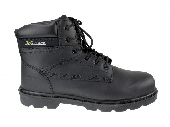 Xplorer Leather Safety Boot w/ Padded ankle support and protection